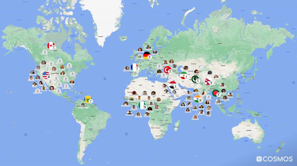 Cosmographers map